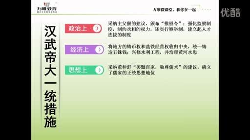 人教版 七年级 历史—汉武帝大一统措施-微课堂