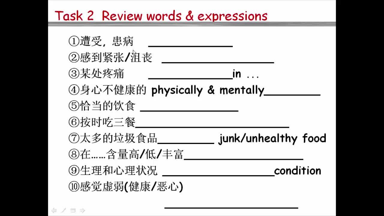 【高分秘笈】高中英语 微写作 热点微课程:健康饮食