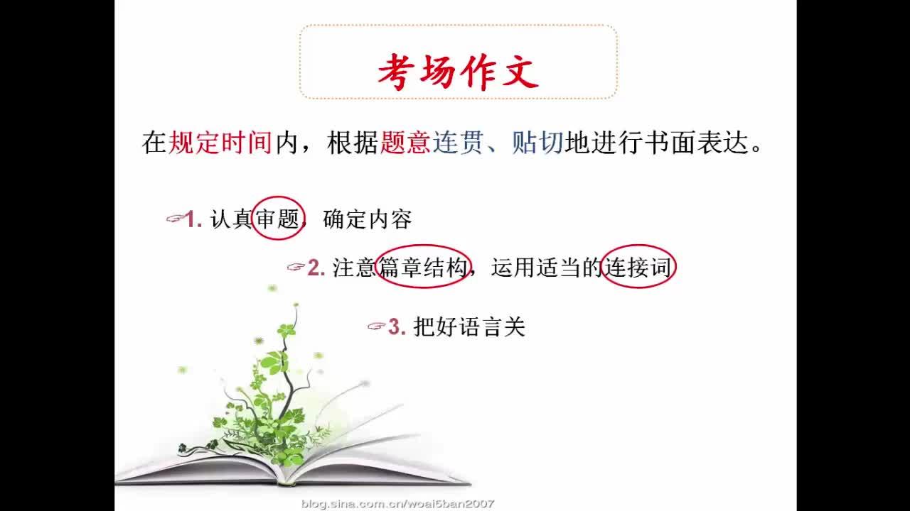 【高分秘笈】高中英语 微写作 热点微课程:如何写好考场作文