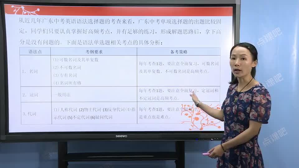 九年级英语(中考):语法考点分析-名师示范课