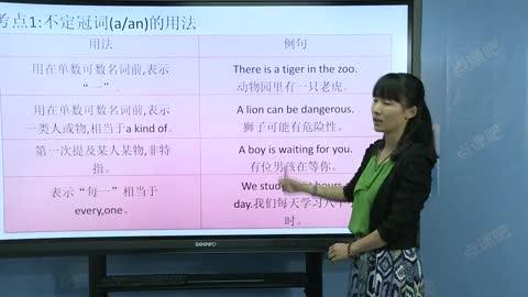 九年级英语(中考):冠词-名师示范课