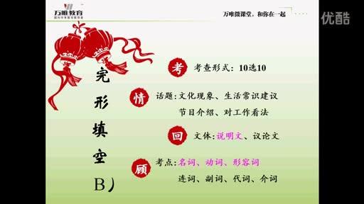 人教版 九年级英语—完形填空B(江西)-微课堂