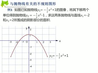 人教版数学九年级(中考)求不规则几何图形的面积-微课堂