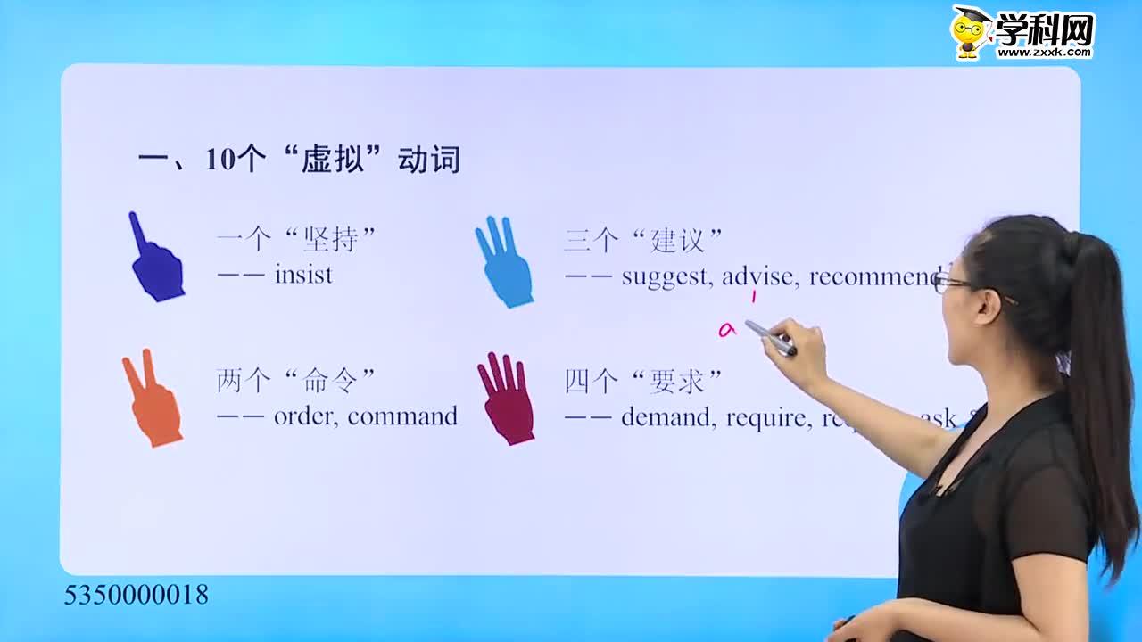 """高考英语 虚拟语气查漏补缺——""""一、二、三、四法""""巧记10个虚拟动词-试题视频"""