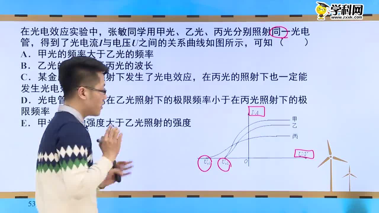 高考物理 原子物理中的易错点透析:搞定光电效应中的图像问题-试题视频