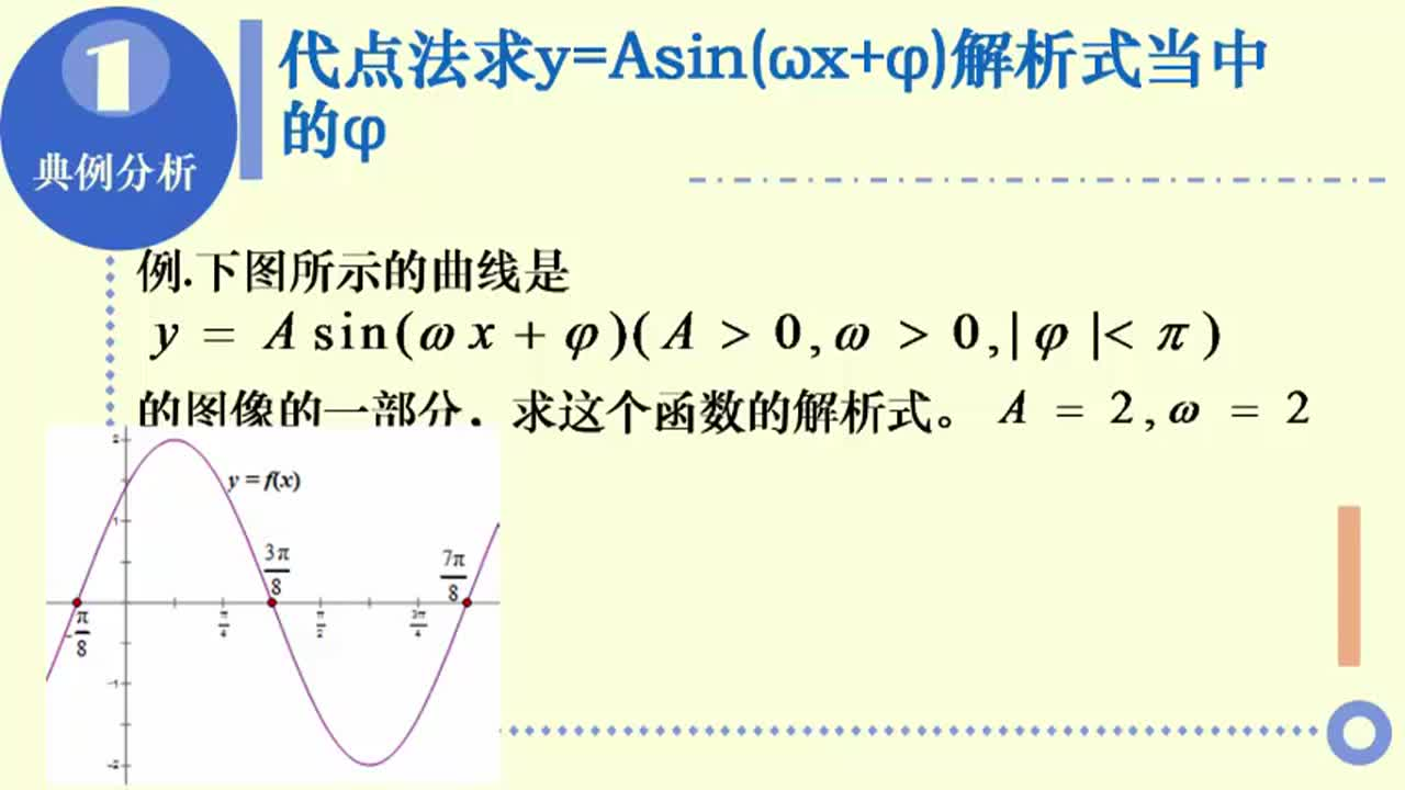 【名校名师微课】高中数学必修四(人教A版)重难点知识突破微课程(浙江专版):y=Asin(ωx+φ)解析式的求法