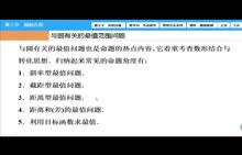 高三数学-与圆有关的最值问题-郑天福-微课堂视频