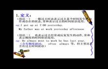 冀教版 初中英语时态 一般过去时-视频微课堂