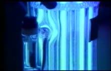 鲁教版 九年级化学 水分子的运动 水流-视频素材