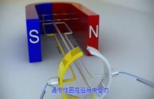 人教版 九年级物理 直流电动机的工作原理-视频素材
