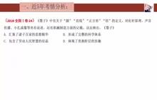 人教版高三歷史備考策略【先秦】高考試題分析-視頻微課堂