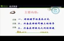 人教版 高二生物 必修三 第2章 動物和人體生命活動的調節系列-神經調節-視頻微課堂(王志娜)