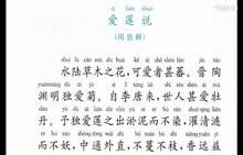 部编版 七年级语文下册 第四单元 第16讲《爱莲说-周敦颐》朗读视频-视频素材