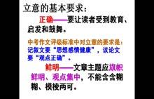 初中语文 作文的立意指导-视频微课堂