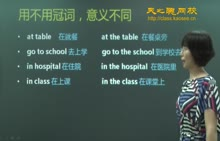 初中英语-冠词专项训练(4)-视频微课堂