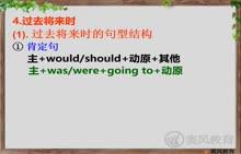 中考英语语法完全突破 第七讲:动词的时态和语态-5过去将来时-视频微课堂