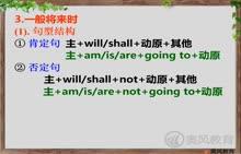 中考英语语法完全突破 第七讲:动词的时态和语态-4一般将来时-视频微课堂