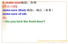 人教版 八年级英语上册 Unit 6 I'm going to study computer science.-02. make sure, send, be able to, discuss, promise用法-视频微课堂