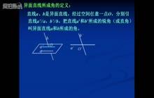 人教版 高中数学 必修二 异面直线所成的角-视频微课堂