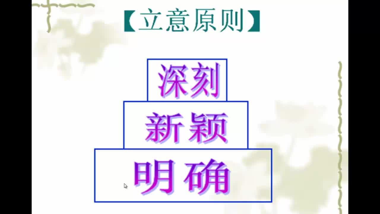 长春版 九年级语文上册 初中作文的立意-视频微课堂