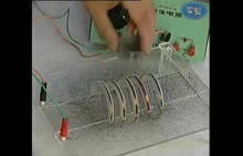 人教版 九年级物理:通电螺线管周围的磁场-实验演示视频