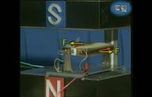 人教版 九年级物理:电动机的原理-实验演示视频