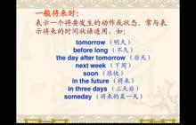 七年级英语:一般将来时-微课堂视频