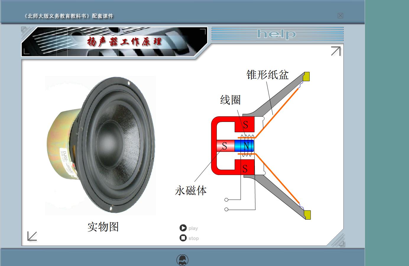 九年级 物理  扬声器工作原理-视频素材