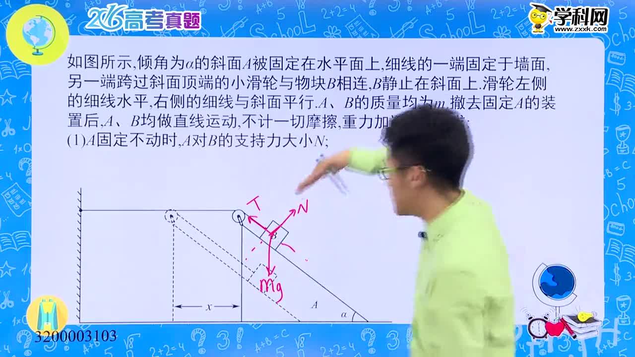 高中物理 斜面模型:斜面+共点力的平衡+运动的合成与分解+机械能守恒定律-试题视频