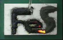 人教版高二化学铁与硫的反应-视频素材