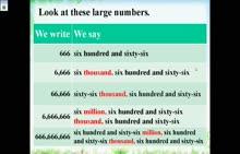 外研版 高一必修四 英语-英文大数字、分数和百分数的读法-微课堂