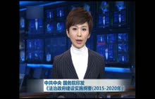 八年级下册 政治 中共中央 国务院印发《法治政府建设实施纲要(2015-2020年)》-视频素材