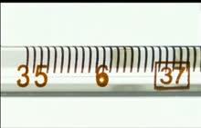 人教版 八年级物理:体温计-实验演示