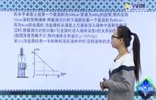 """初中物理:压强、浮力综合计算题——""""F-h图象""""-试题视频"""