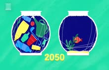 少用塑料 保护环境 英语视频素材