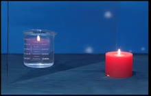 人教版 八年级物理 水中的烛焰-视频素材