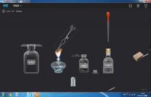 人教版九年级化学 实验视频 碳在氧气和空气中燃烧(flsha 动画)
