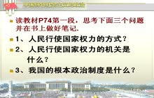 人教版 九年级全册 政治第三单元第六课第一框   人民当家作主的法治国家