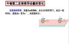 人教版选修3-5 16.2 动量和动量定理-牛顿第二定律推导动量定理(微课视频)