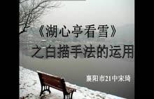 人教版 八年级语文上册《湖心亭看雪》之白描手法