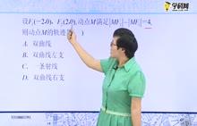 高中数学 双曲线定义、标准方程的辨析及应用:一、双曲线定义及辨析-试题视频