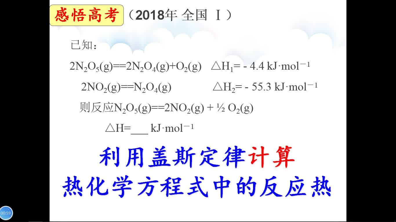 人教版 高三化学复习 热化学方程式