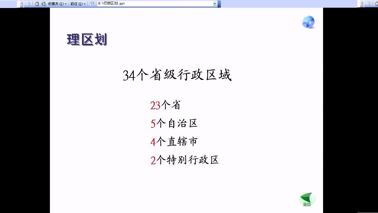 人教版 八年级地理上册 第一章第二节1.2中国的行政区划