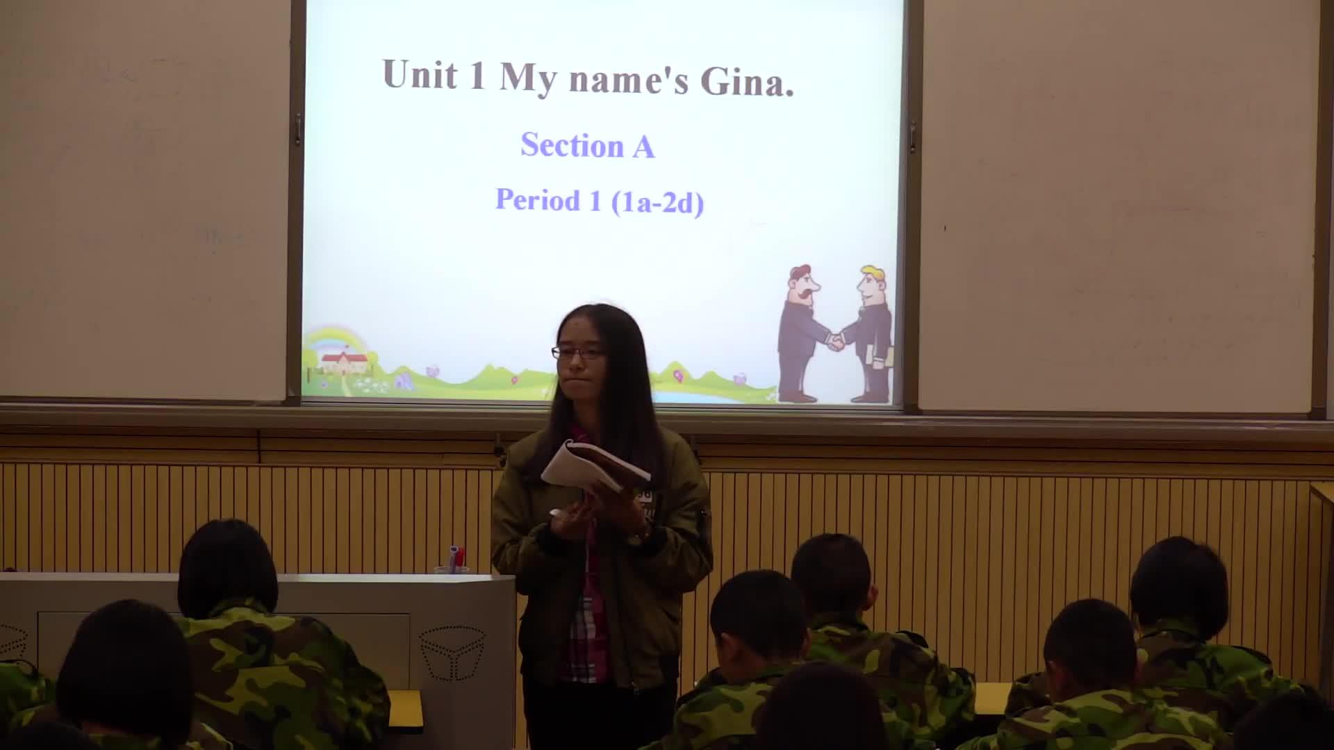 人教版 七年级英语上册 Unit1 My name's Gina Section A Period 1(1a-2d)