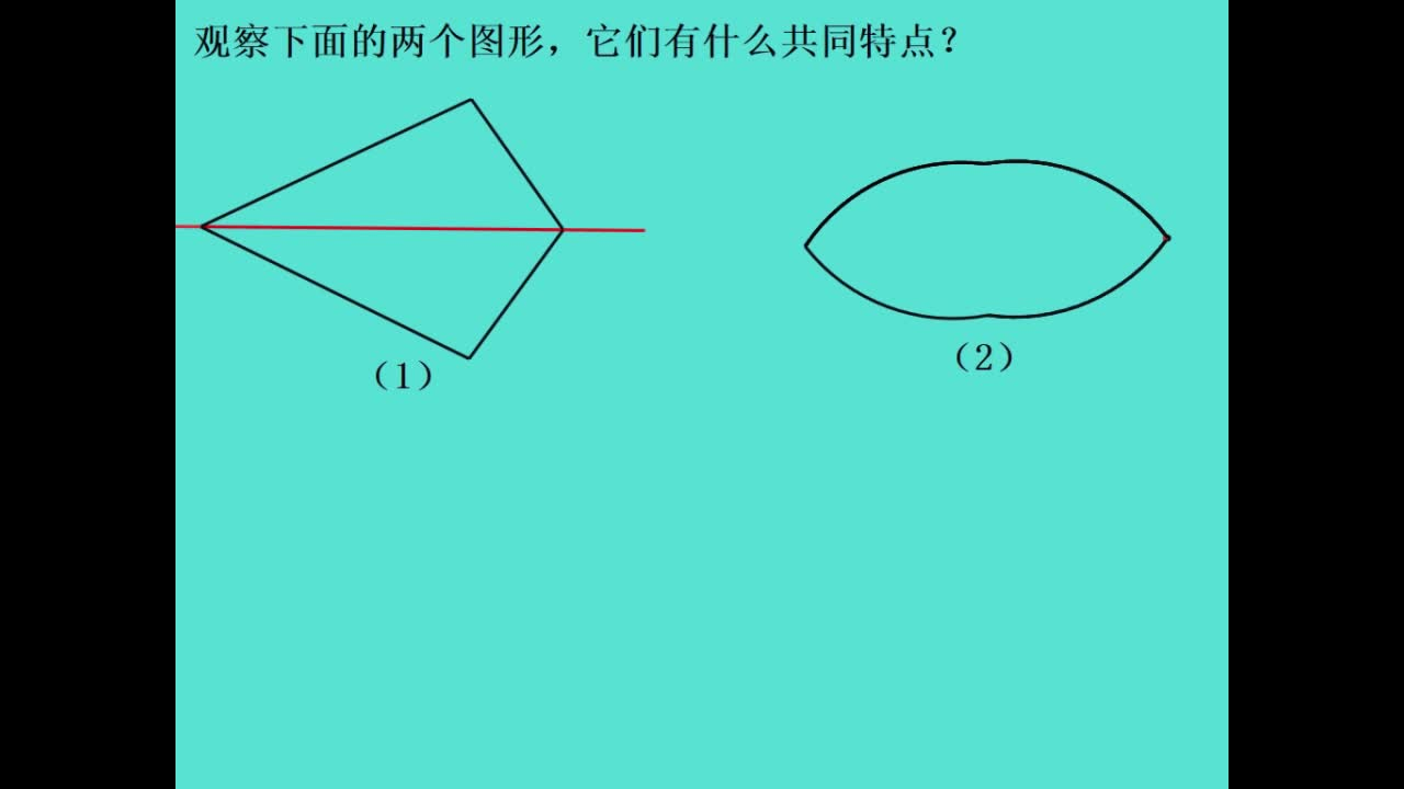 鲁教版(五四制) 七年级数学上册 2.1轴对称现象