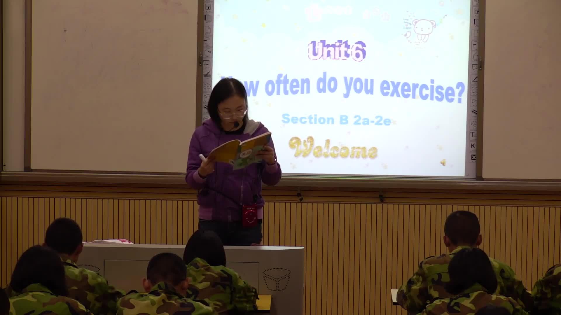 人教版 八年级英语上册 Unit2 How often do you exercise-课堂实录