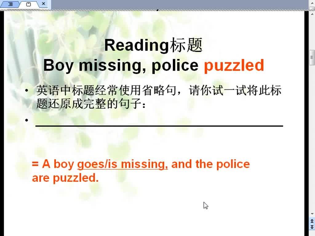 译林牛津版 高中英语 必修二 Module2 Unit1 puzzled的用法-视频微课堂