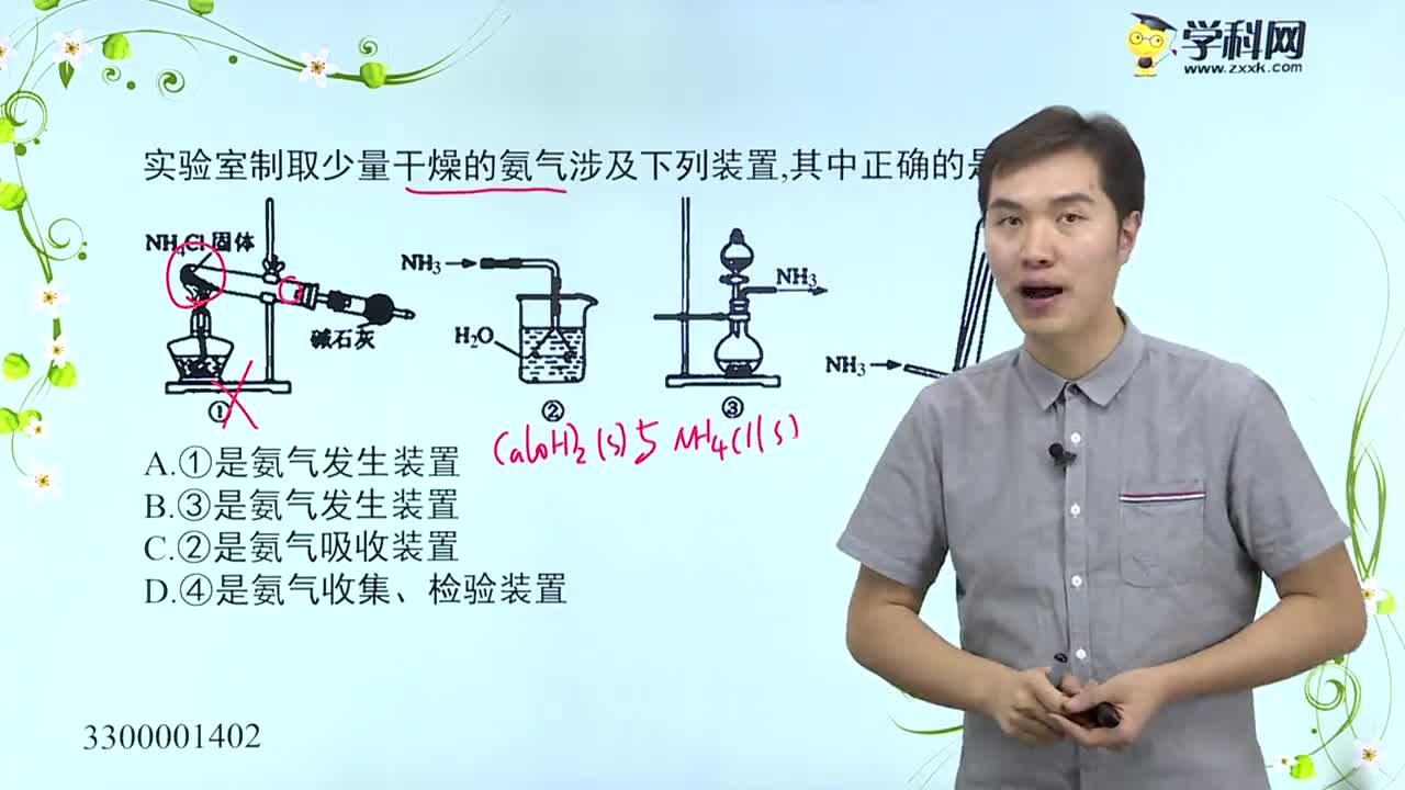 高中化学 常见气体的制备实验综合解析-实验综合例2-试题视频