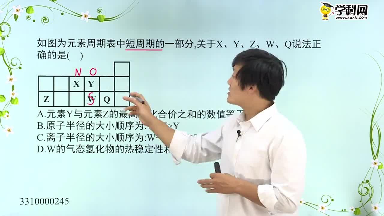 高中化学 常见元素的推断-常见元素的推断例题1-试题视频