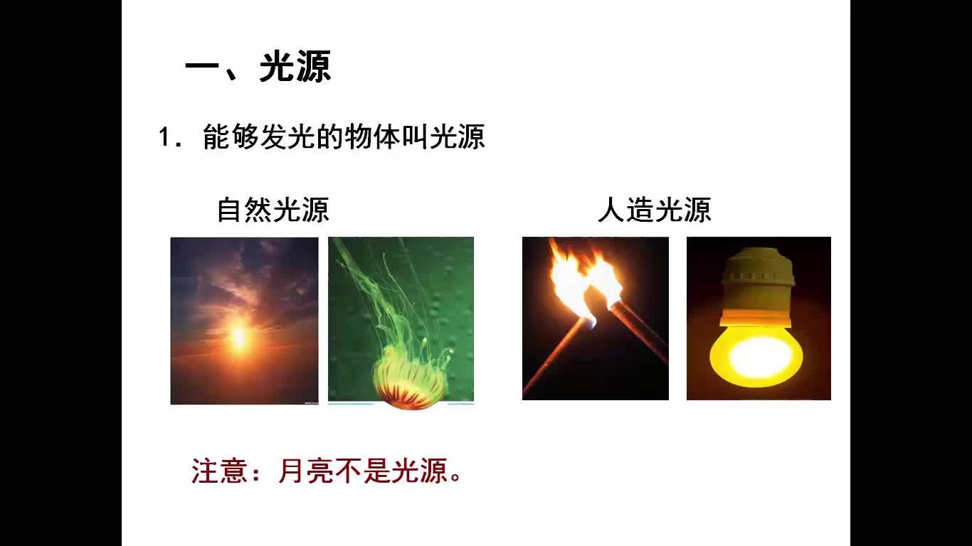 人教版 八年级物理上册 第四章 第一节 光的直线传播-视频微课堂(蓝天微课堂)